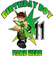 Ben 10 Personalized Birthday T Shirt Gift Tee Present Add Name
