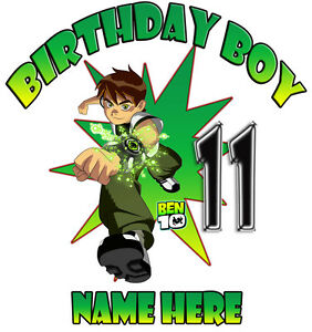 Image Is Loading Ben 10 Personalized Birthday T Shirt Gift Tee