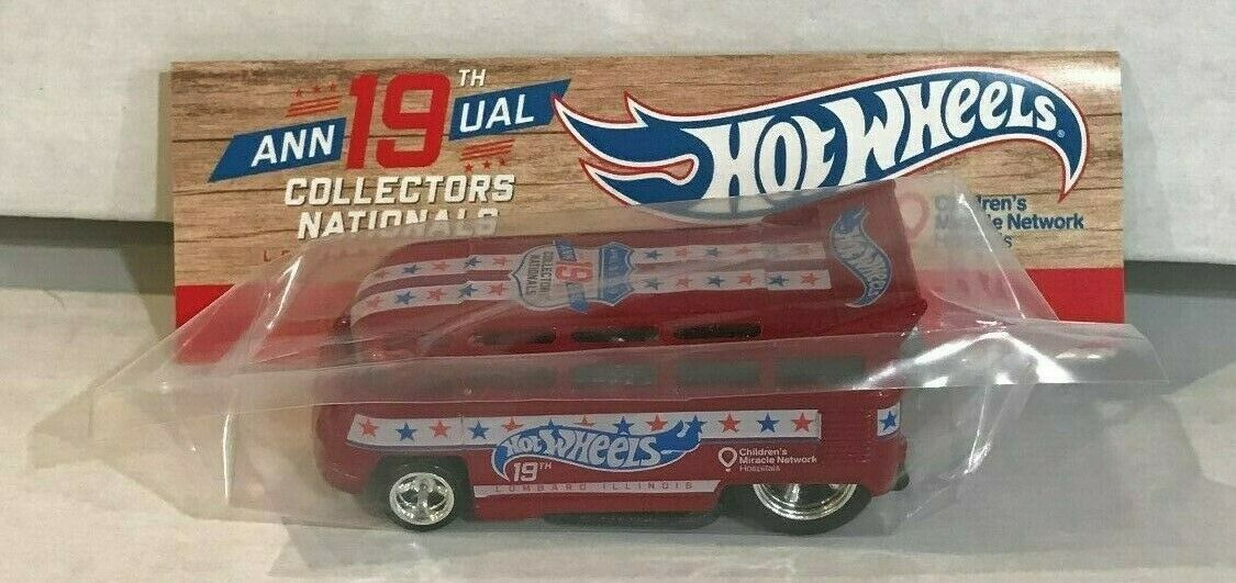 Los Nacionales Hot Wheels 19th 2019 convención rojo VW T1 Drag Bus Bingo Win - 90 hecho