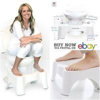 Squatty Toilet Potty Stool Bathroom White Legs Rest Adult As Seen On Tv Ez Relax