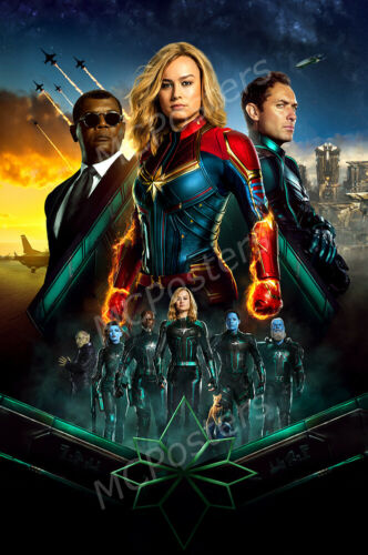 Marvel Captain Marvel Textless Movie Poster Glossy Finish Posters USA MCP932