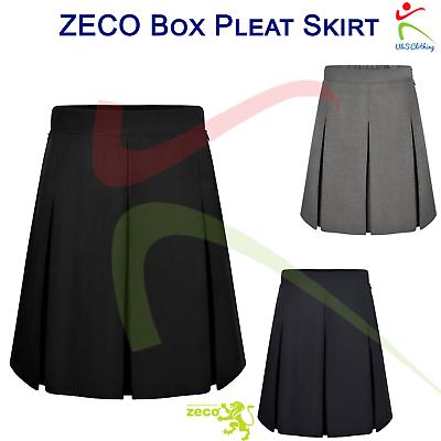 Girls Ladies Waist Size Stitched Down Box Pleat Skirt School Uniform GS3018