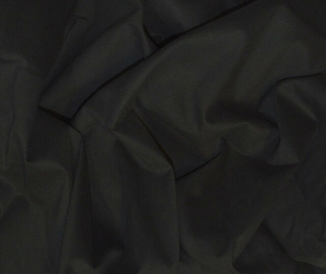 BLACK BRUSHED STRETCH COTTON TWILL COTTON ELASTANE THICK FABRIC BY THE METRE