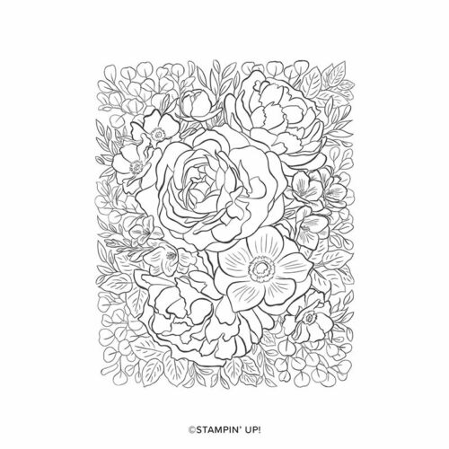 NIP Stampin Up Breathtaking Bouquet Red Rubber Cling Stamp Set of 1
