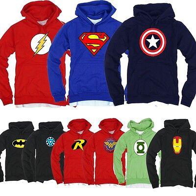 Superhero FILM Marvel DC COMICS Batman Superman Flash GL Hoodie TShirts Hoody X