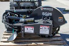 Bradco Sg26 Stump Grinder Attachment For Skid Steers Standard Oil Flow 26wheel
