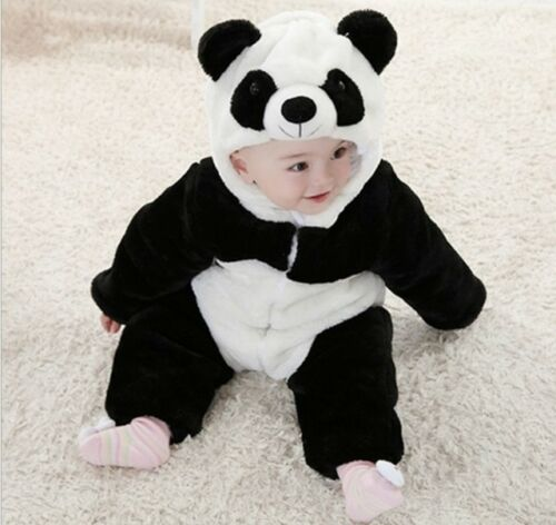 Baby Boy Girl Panda Halloween Fancy Dress Party Costume Outfit Clothes Playsuits