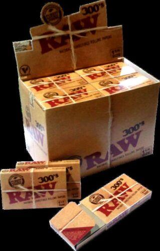 RAW 300.  20 booklets ,Papel de fumar natural sin blanqueantes ,libre de cloro.