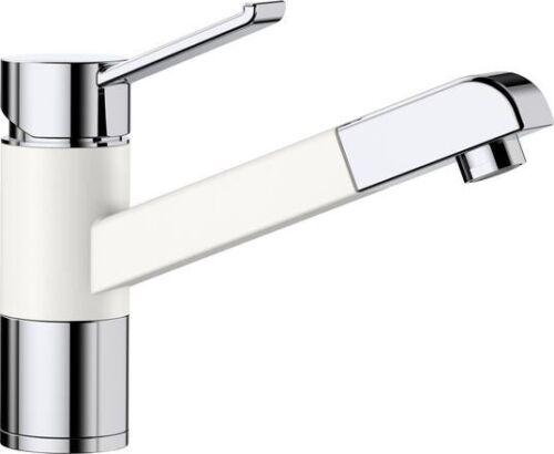 BLANCO ZENOS-S Armatur SILGRANIT® silgranitweiß//chrom Hochdruck 517822