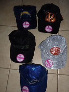2d9f64cf973 VICTORIAS SECRET PINK BLING SEQUIN NFL FOOTBALL CAP HAT CHOICE NWT ...