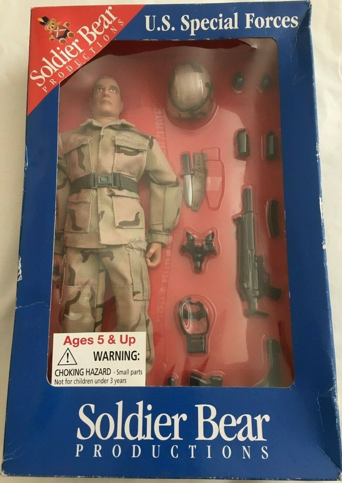 AAFES SOLDIER BEAR PRODUCTIONS US SPECIAL FORCES ULTIMATE SOLDIER W ACCESSORIES