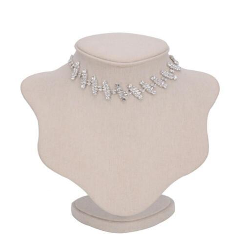 Crystal Charm Collar Collier Élégant Femme Faux Pearl Bib Chaîne Tour de Cou Bijoux
