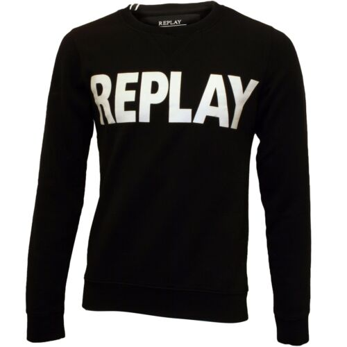 Replay Bold Logo Men/'s Sweatshirt Black