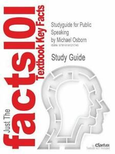 studyguide for public speaking by michael osborn isbn 9780205584567 rh ebay com public speaking study guide quizlet dsst public speaking study guide
