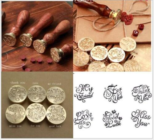 Retro Blessing Logo Letter Envelope Invitation Initial Sealing Wax Seal Stamp