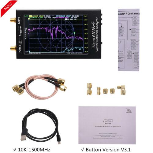 "V3.1 NanoVNA-F Vector Network Analyzer Antenna 10K-1500MHz 4.3/""  Button Version"