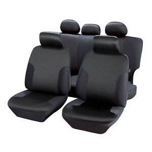 housses de siège 1/3 2/3 en jacquart noir pour mercedes classe g