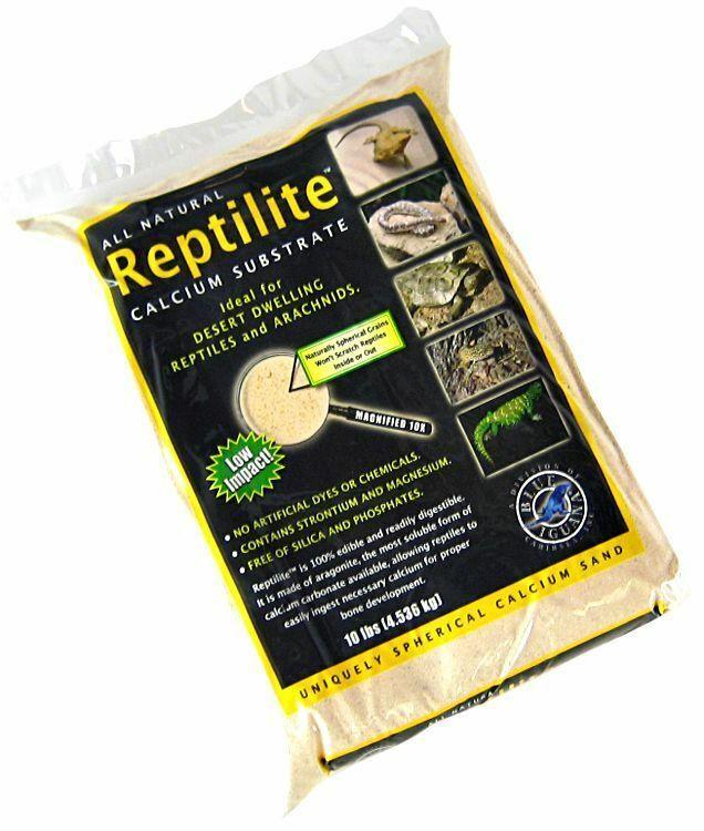 LM Blau Iguana Reptilite Calcium Substrat für Reptilien - Aztec Gold 40 lbs - (4)