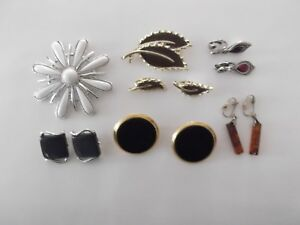 Details About 12pc Lot Vintage Costume Brooches Earrings A Set Coventry Napier Monet Avon