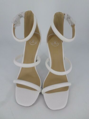 Eu White Missguided Barely Rounded Ln19 Rebajas Heels 41 11 Croc Uk There 8 Strapy Zrzqzd