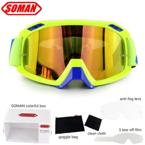 Soman Riding Motorcycle Helmet Goggles Motocross Off-road Windproof Glasses