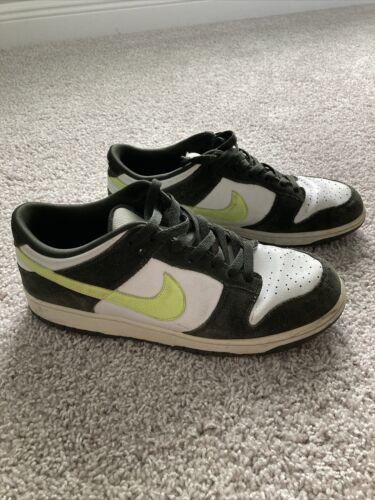 Nike Dunk Low 6.0 White, Black, Volt 314142-172 Me