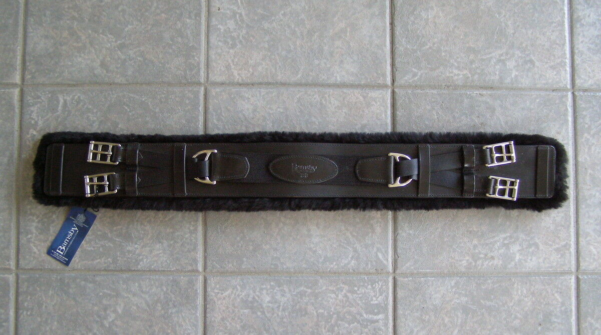 New  Cliff Barnsby England Equalizer Removable Sheepskin Dressage Girth, 28