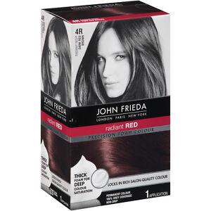 John Frieda Precision Foam Hair Colour Color Dye 4r Dark Red Brown