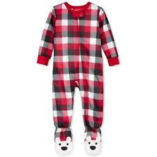Family PJs Red Snowflake Infant Baby Christmas Footie Pajamas 24 Months #7786