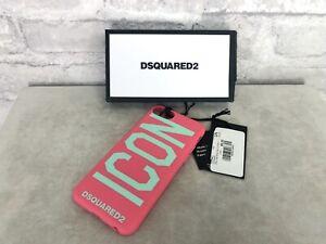 DSquared2-Nuovo-in-Scatola-Auth-IPHONE-6-6S-7-8-Rosa-Custodia-Cover
