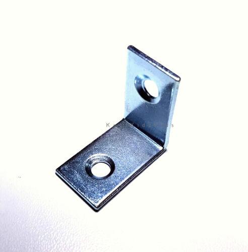 SET OF 4 CORNER BRACE ZINC PLATED HEAVY DUTY 25MM X 25MM X 16.5 L SHAPE BRACKET