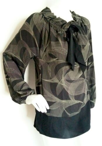 brand Xs Sleeve Loose Silk Blouse 100 New Long Size Jaeger xwYSqvzY