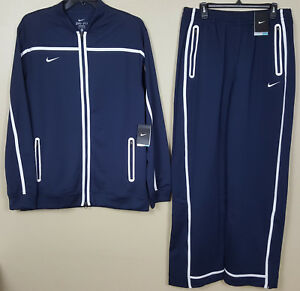 ec902279cb24 NIKE DRI-FIT BASKETBALL WARM UP SUIT JACKET +PANTS NAVY BLUE RARE ...
