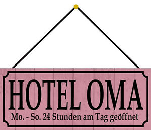 Hotel Oma Tin Sign Shield with Cord Arched 10 X 27 CM K0120-K