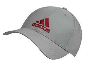 Labor Sarabo árabe Geometría  Adidas Hombres Liviano 6P Caps C40 que ejecuta Gris Sombrero Gorra Gorro  Rojo informal DZ9323   eBay