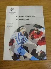 19/10/1994 Manchester United v Barcelona [Champions League] (slight mark on fron