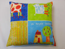 'La Petite Maison' Colourful Children's Cushion Cover 40cm x 40cm
