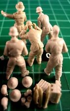 Milicast FIG040 1/76 Resin WWII Afrika Korps Gun Crew, Long Pants+Optional Heads