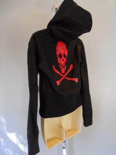 Nos Hættejakke X Pirate Skelet Vegan Bomber Hættetrøje Skull S Top Sort Bones U1FZqU