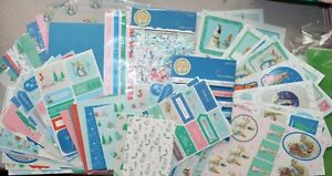 Details about Peter Rabbit Christmas Card Making Kit  Decoupage/Papers/Ribbons/Toppers NEW