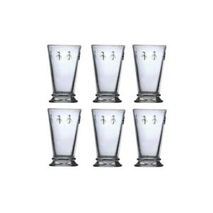 French-Bee-Glassware-Water-Wine-Beverage-Glasses-Set-of-6-Glasses