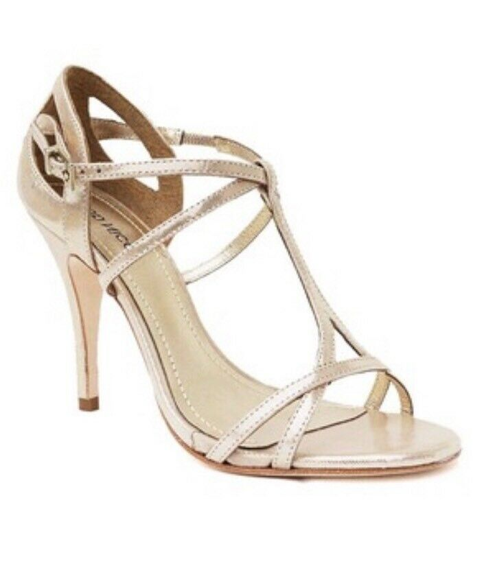 Klub Nico NEW Marlene Champagne Champagne Champagne Gloss Gold Leather Strappy Heels 36 7 Bridal cea0cc