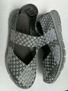 Italina Womens Sandals Size 10 Silver Metallic Espadrille Platform New Shoes