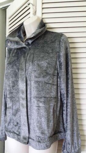 Gray CHICO/'S Zenergy Velour Bomber Jacket NWT Sizes 2 /& 4