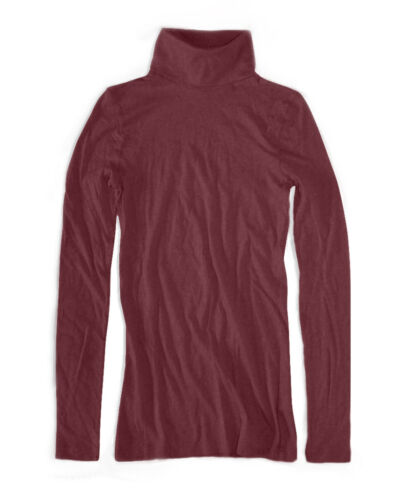 crew Port Rollkragen Nwt Baumwolle shirt Damen T Gewebe Rot Xs J 4HRfnqf