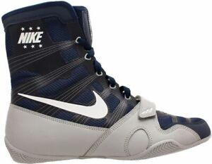 Nike HyperKO LE Boxing Boots Professional Boxing Shoes Boxschuhe Navy/Grey