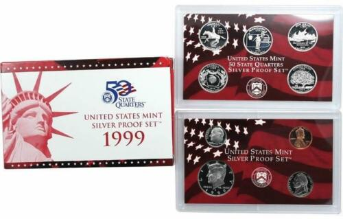 1999 US Mint Silver Proof 9 Coin Set