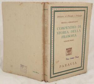 NICOLA-ABBAGNANO-COMPENDIO-DI-STORIA-DELLA-FILOSOFIA-VOLUME-PRIMO-1947
