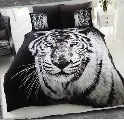 Bettwäsche Tiger 3d Effekt Fotodruck Bettgarnitur Tier Bett Wäsche