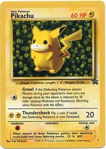 Pikachu Ivy #1 GERMAN Black Star PROMO WOTC Rare NEAR MINT Pokemon Card